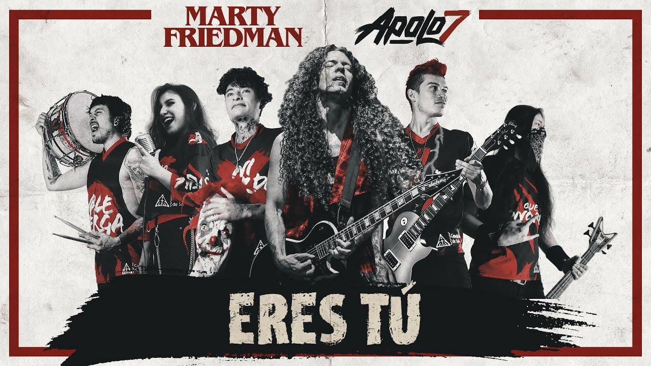 Ex-MEGADETH Guitarist MARTY FRIEDMAN Collaborates With APOLO 7 On 'Eres Tú' Cover: Official Music Video Released