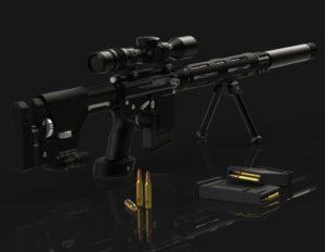 Sniper rifle 3D CAD