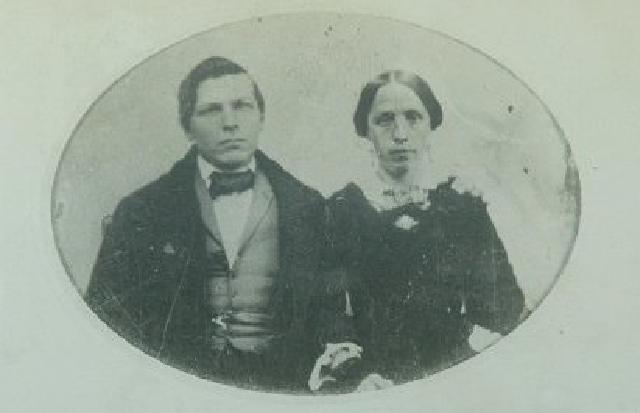 Jacob and Catherine Dietrich in 1855.