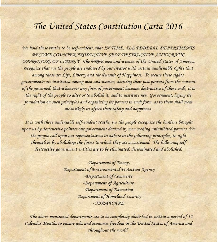 The Constitution Carta