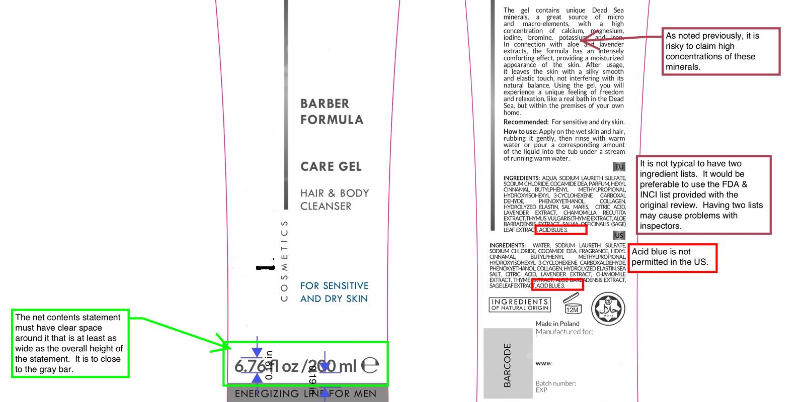 Etykieta kosmetyku w USA