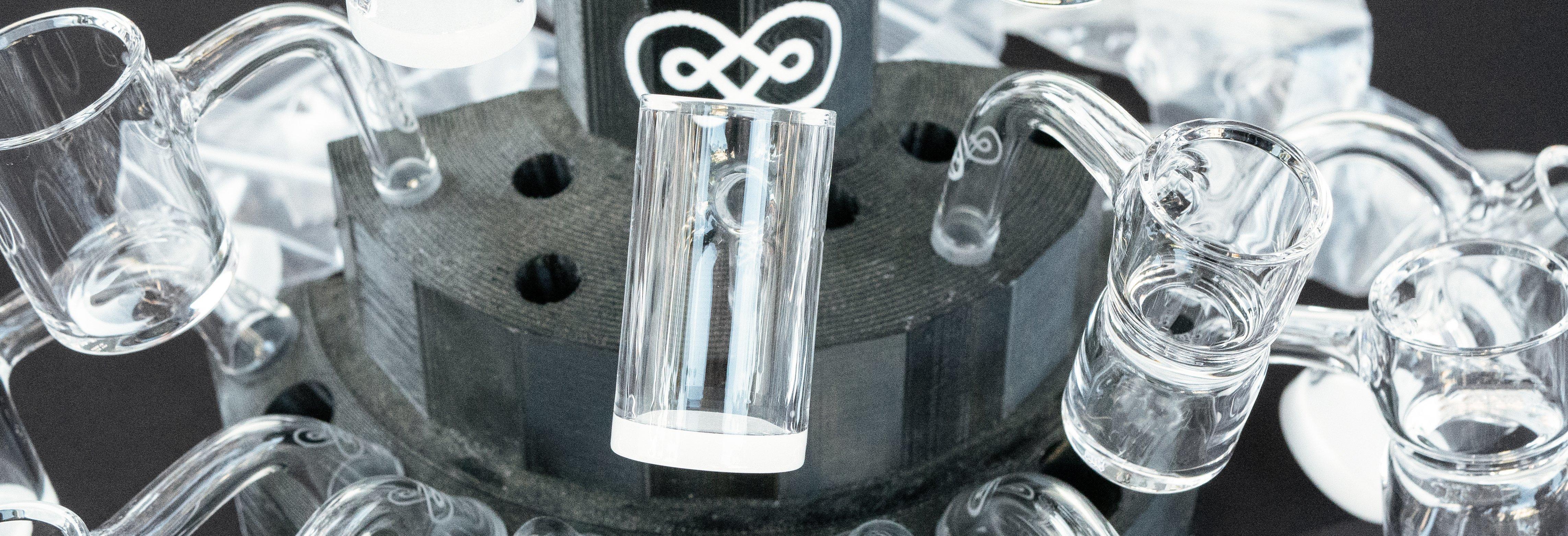 Clear glass pieces by eternal quartz glass
