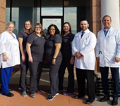 A group photo of the Atlas Medical Center team