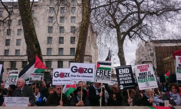 Where was Labour on Palestine demonstration?