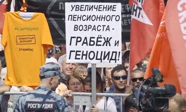 Russia: Protests against pension reform show potential for resistance