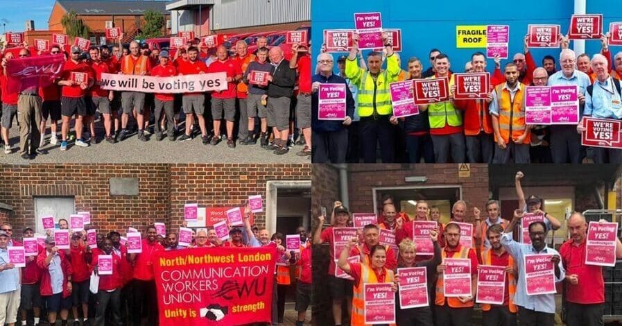 Postal workers declare war on Royal Mail bosses