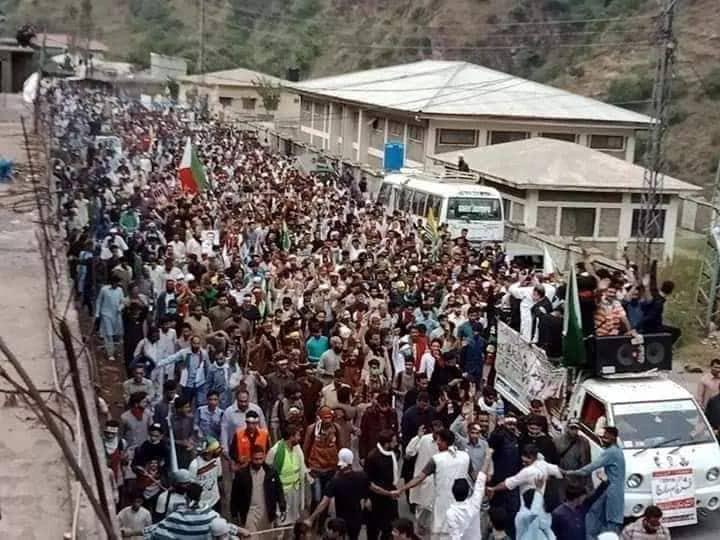 Tens of thousands join Jammu Kashmir Liberation front march