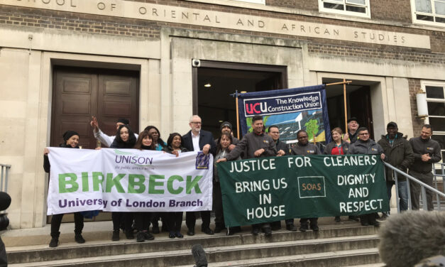 Solidarity with Sodexo workers at Birkbeck!