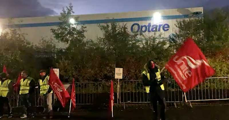 Optare workers strike against broken pay promise