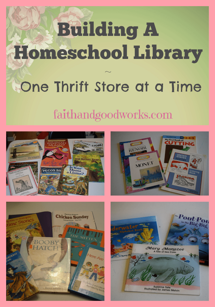 Homeschool Library, One Thrift Store at a Time