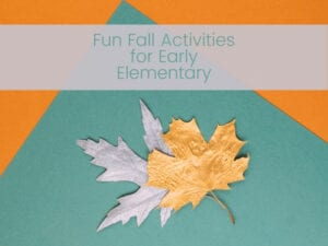 fall activities for early elementary