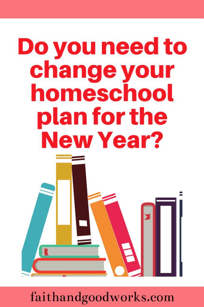 change your homeschool plan