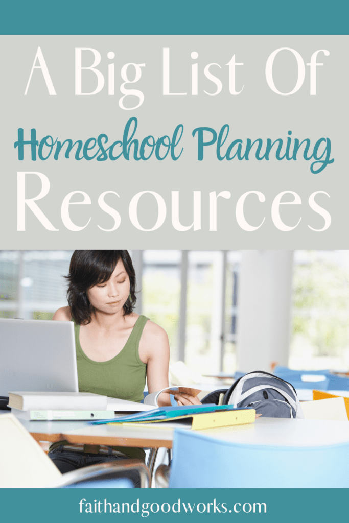 homeschool planning resources.