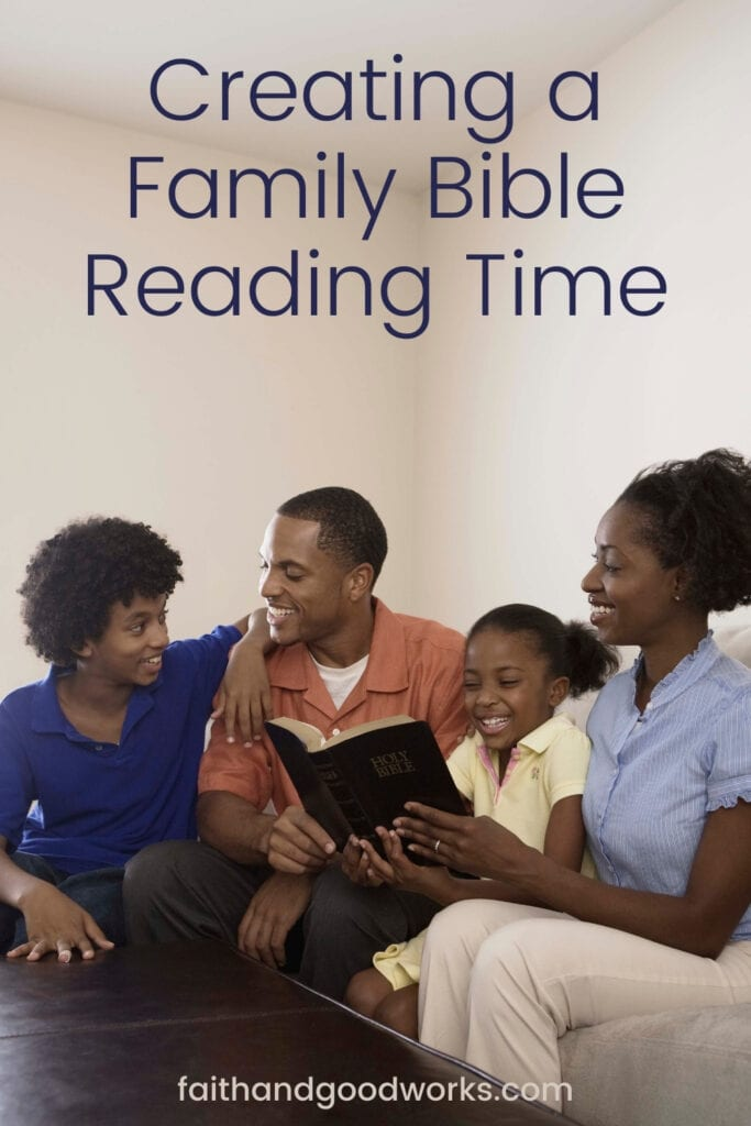 creating a family bible reading time