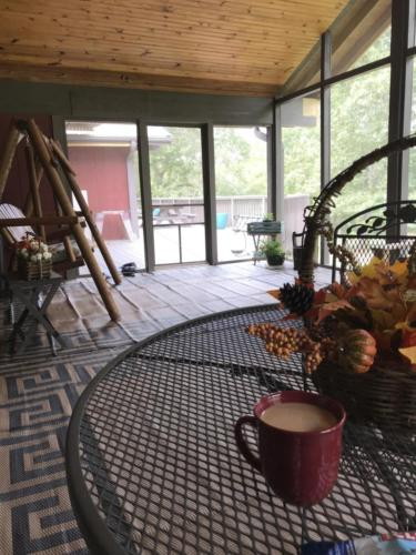 Beautiful, spacious screen porch