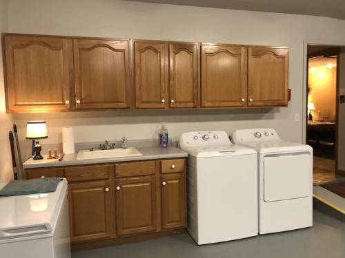 Newly relocated laundry area