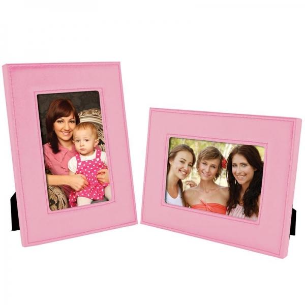 NE Pink Stitched Leatherette Frame 6146ph.jpg
