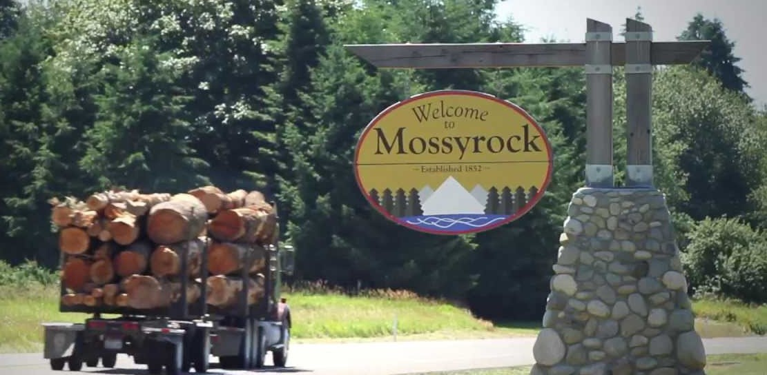 Logging Mossyrock sign