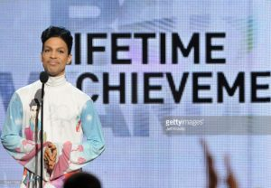 Prince accepting BET Lifetime Achievement Award in 2010 *credit to Getty Images & Viacom*