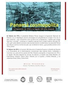 Invitación a Mesa Redonda 100 años La Exposicion