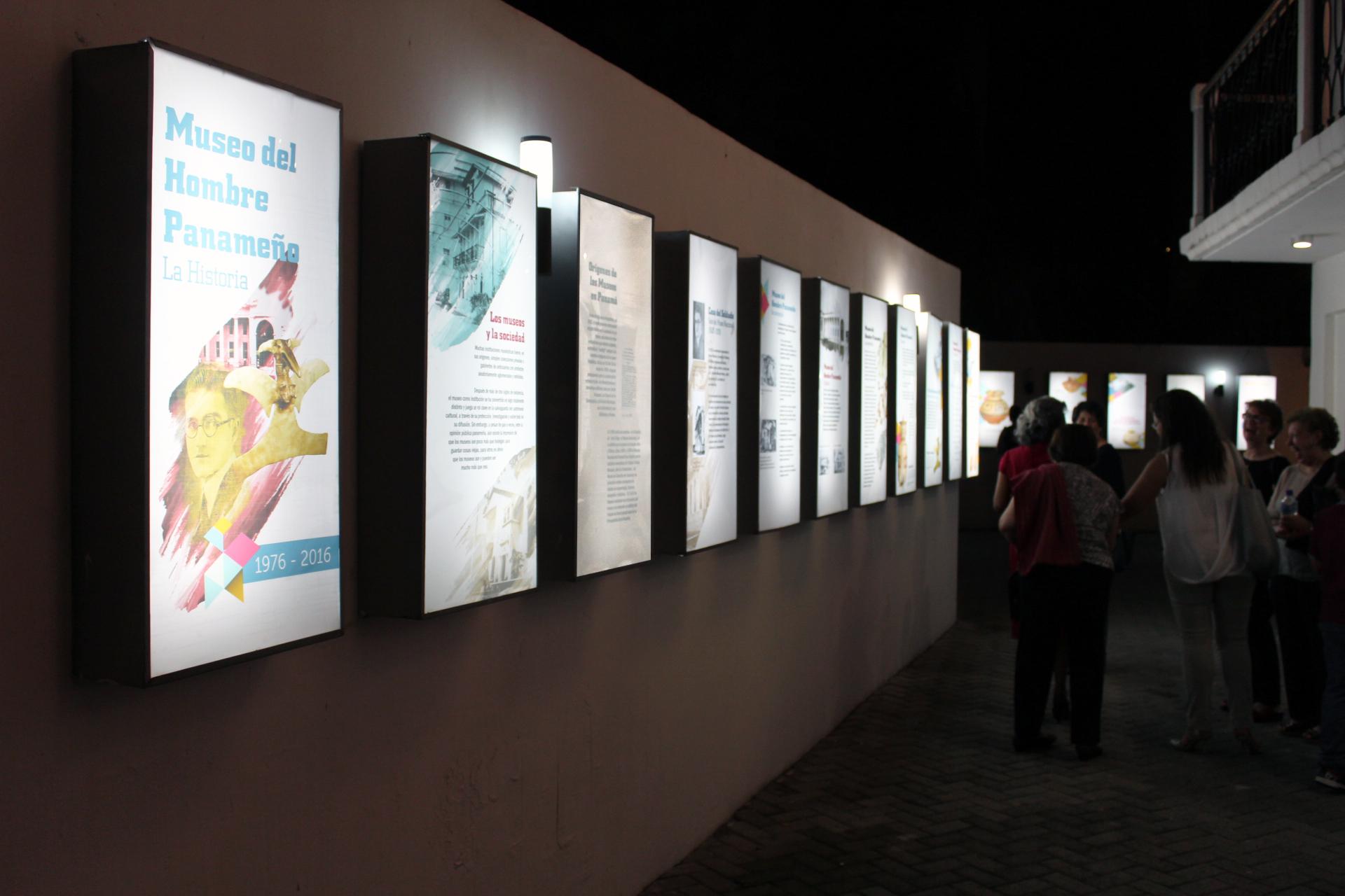 Exposición. Vista nocturna