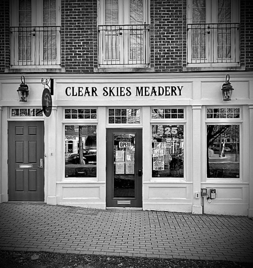 Front of store b&W