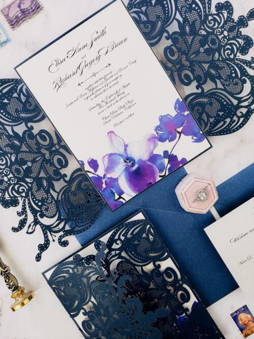 dendrobium orchid invitation