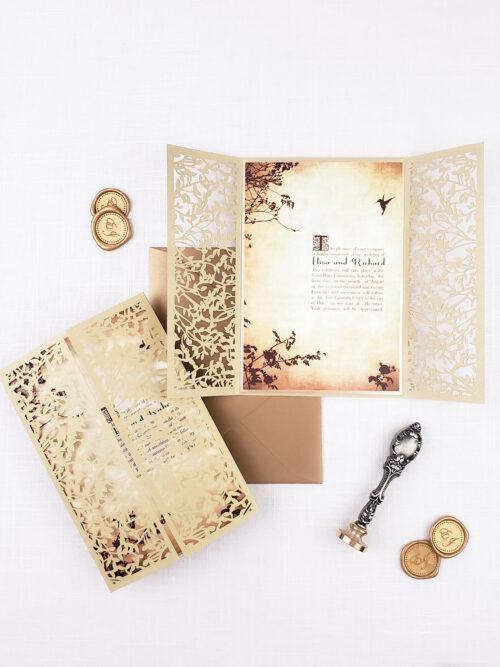 laser cut royal wedding invitations