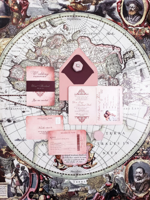 vintage wedding passport