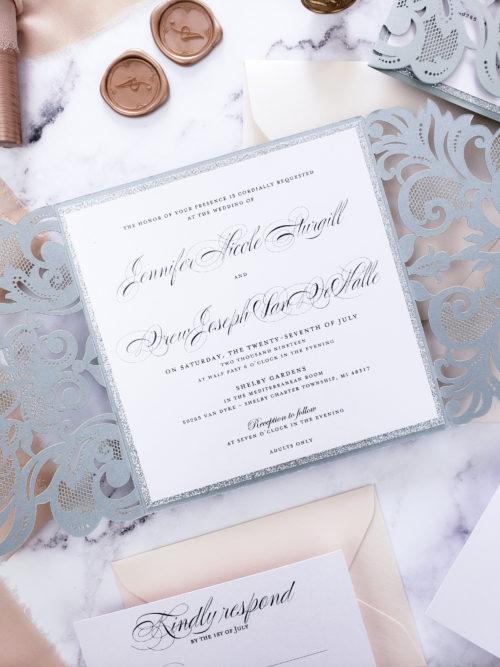 elegant laser cut invitation