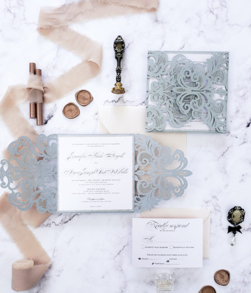 elegant lasercut invitations