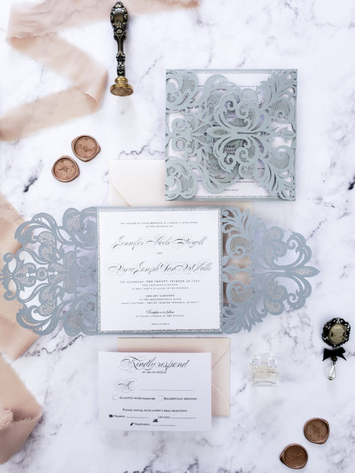 cricut wedding invitation