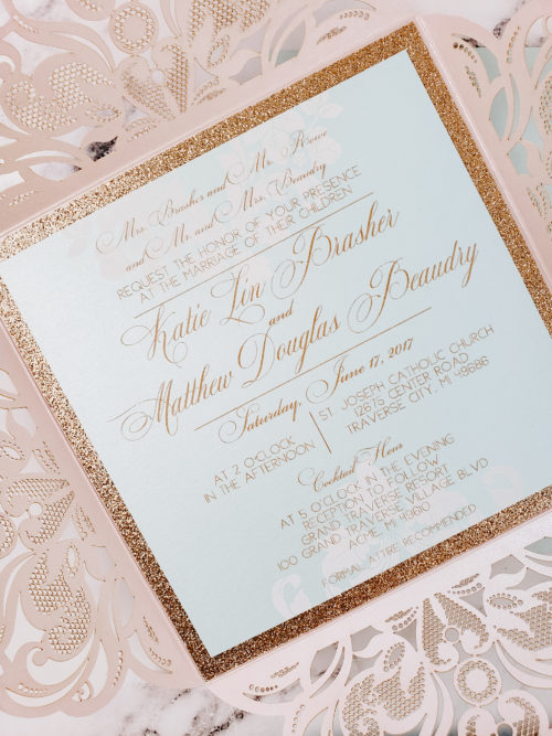 elegant laser cut invitations
