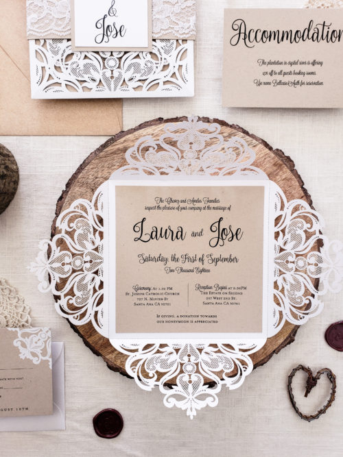 rustic theme laser cut
