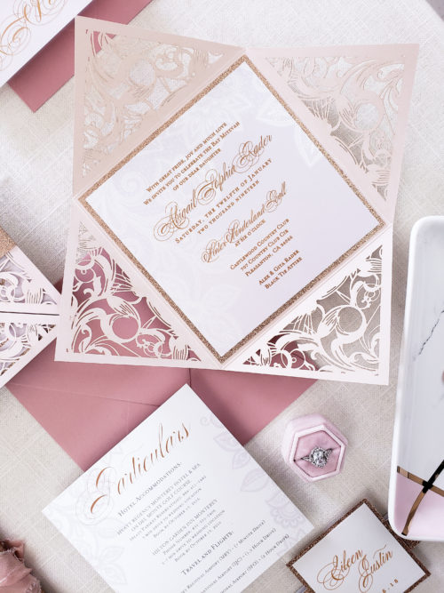 simple laser cut invitations