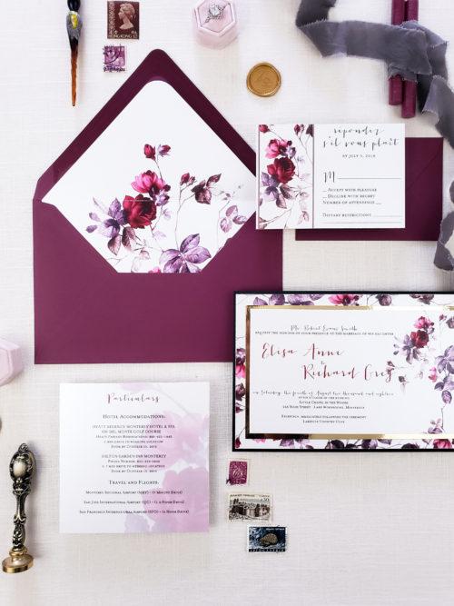 moody floral invitation