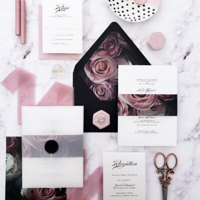 vellum wedding invitation suite