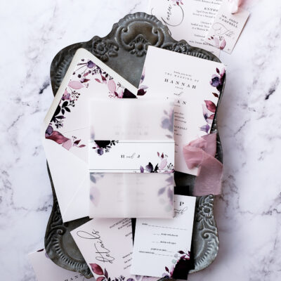 simple vellum wedding invitation
