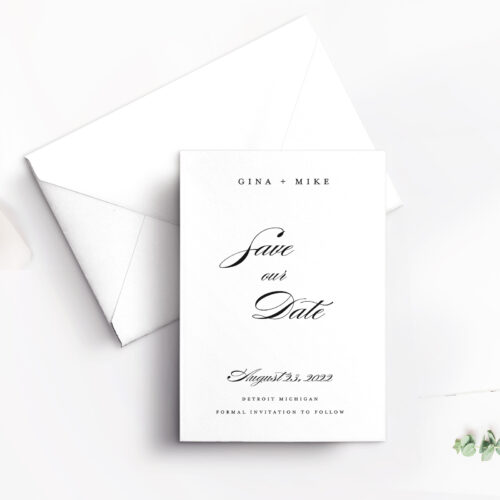SAVE THE DATE vertical with envelope