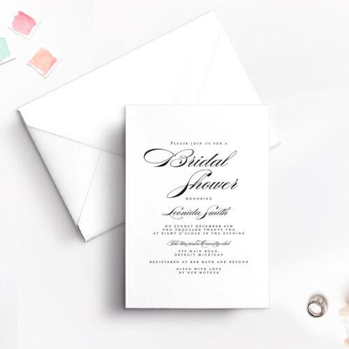 bridal shower vertical with envelope
