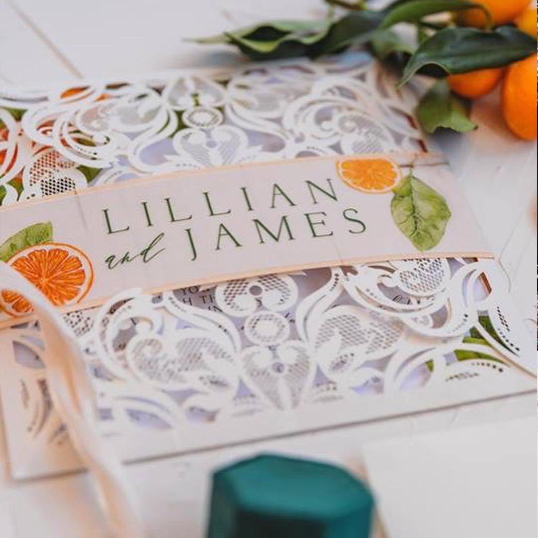 Citrus inspired Styled florida wedding shoot