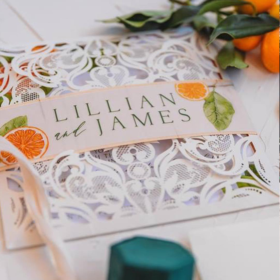Citrus inspired Styled florida wedding shoot