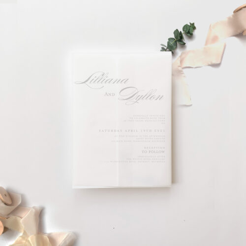 Vellum wrapped cards