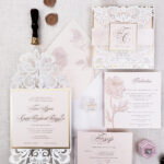 wedding invitation sample laser cut, laser cut wedding invitations blush and ivory, rustic elegant wedding invitations