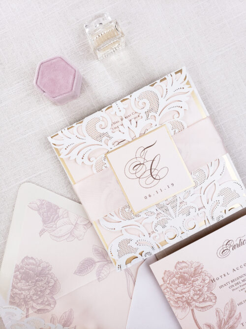die cut wedding invitations