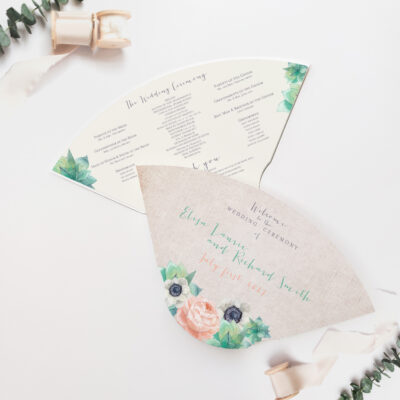 Fan wedding programs