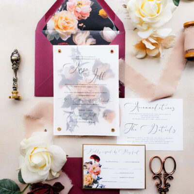 moody wedding invitations