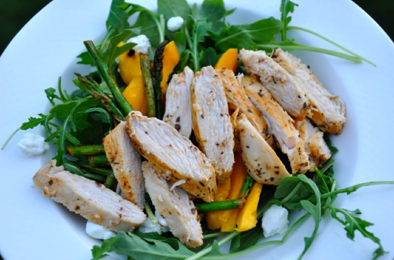 Summer Salad with Chicken Arugula & Mango Recipe
