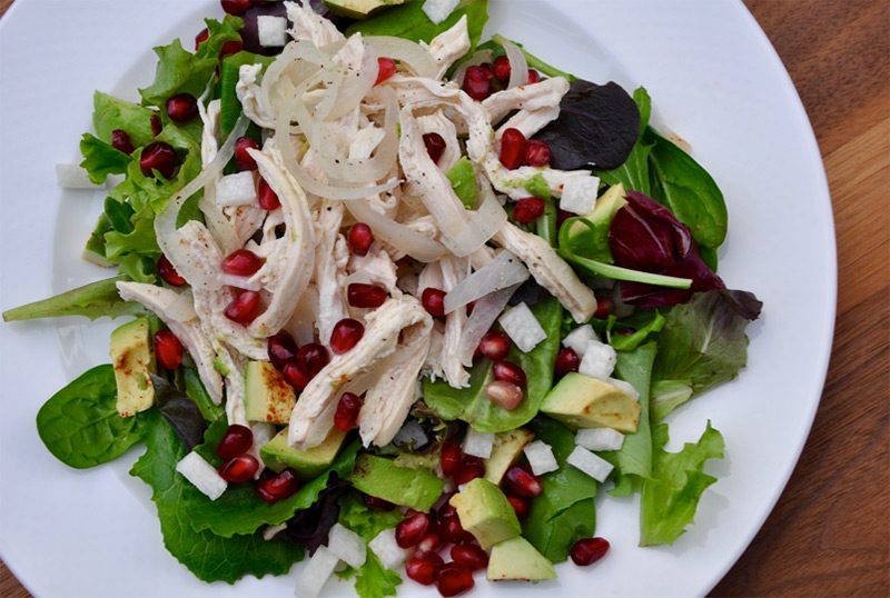 Wine Poached Chicken Salad Recipe