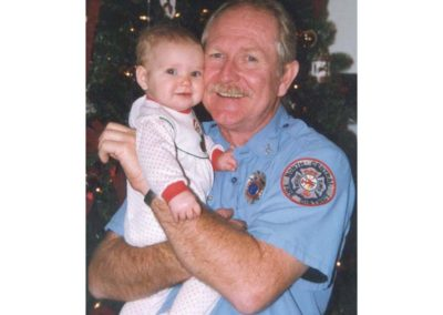 Amber's first Christmas with Grandpox firefighter